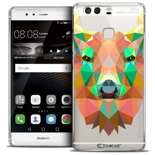 Coque Crystal Rigide Huawei P9 Extra Fine Polygon Animals - Cerf