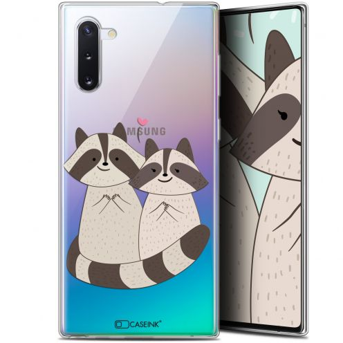 "Coque Gel Samsung Galaxy Note 10 (6.3"") Extra Fine Sweetie - Racoon Love"