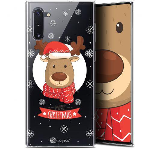 """Coque Gel Samsung Galaxy Note 10 (6.3"""") Extra Fine Noël 2017 - Cerf à Echarpe"""