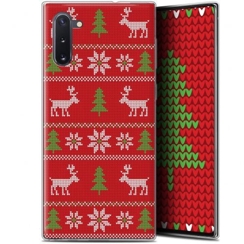 "Coque Gel Samsung Galaxy Note 10 (6.3"") Extra Fine Noël 2017 - Couture Rouge"