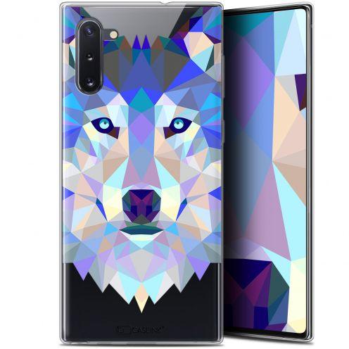 "Coque Gel Samsung Galaxy Note 10 (6.3"") Extra Fine Polygon Animals - Loup"