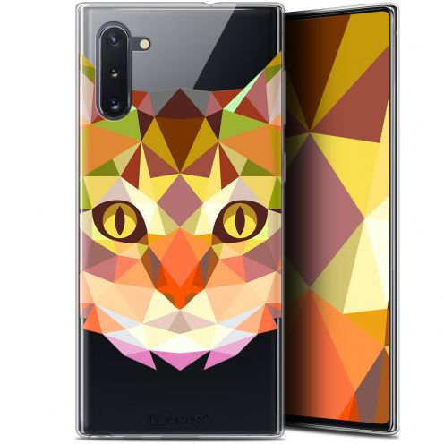 "Coque Gel Samsung Galaxy Note 10 (6.3"") Extra Fine Polygon Animals - Chat"