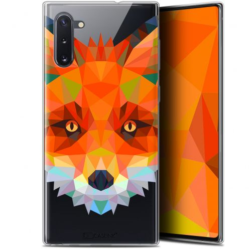 "Coque Gel Samsung Galaxy Note 10 (6.3"") Extra Fine Polygon Animals - Renard"