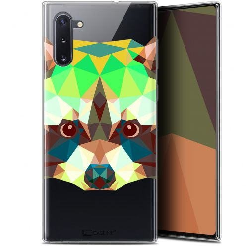 "Coque Gel Samsung Galaxy Note 10 (6.3"") Extra Fine Polygon Animals - Raton Laveur"