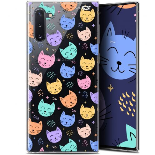 "Coque Gel Samsung Galaxy Note 10 (6.3"") Extra Fine Motif - Chat Dormant"