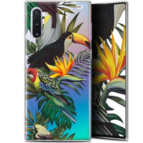"Coque Gel Samsung Galaxy Note 10 (6.3"") Extra Fine Motif - Toucan Tropical"