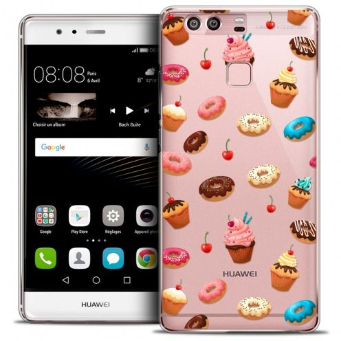 Coque Crystal Rigide Huawei P9 Extra Fine Foodie - Donuts