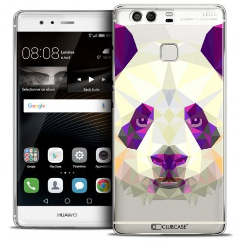 Coque Crystal Rigide Huawei P9 Extra Fine Polygon Animals - Panda
