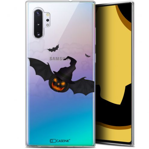 "Coque Gel Samsung Galaxy Note 10+ / Plus (6.8"") Extra Fine Halloween - Chauve Citrouille"