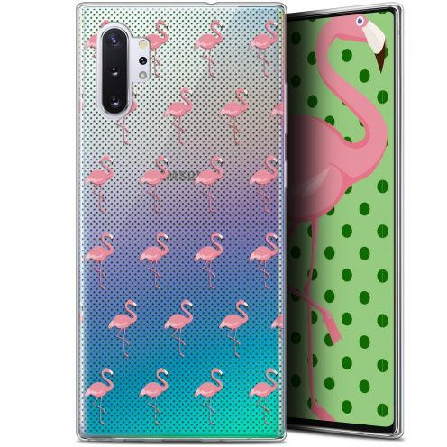 """Coque Gel Samsung Galaxy Note 10+ / Plus (6.8"""") Extra Fine Pattern - Les flamants Roses Dots"""