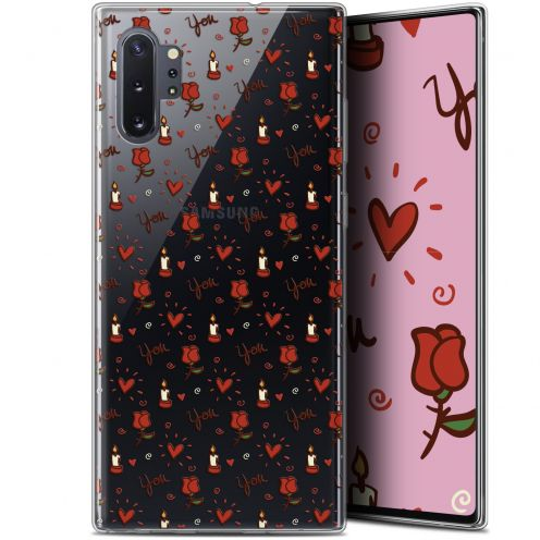 """Coque Gel Samsung Galaxy Note 10+ / Plus (6.8"""") Extra Fine Love - Bougies et Roses"""