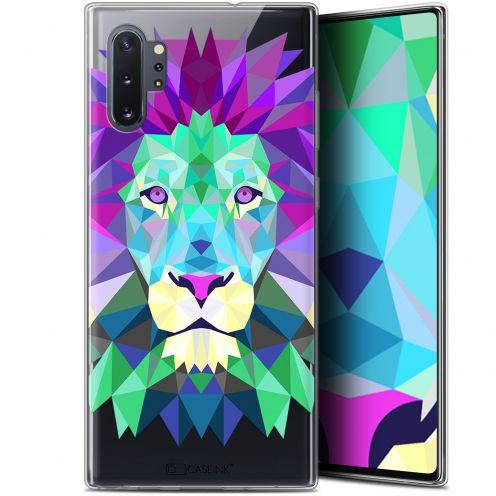"Coque Gel Samsung Galaxy Note 10+ / Plus (6.8"") Extra Fine Polygon Animals - Lion"