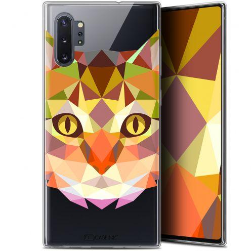"Coque Gel Samsung Galaxy Note 10+ / Plus (6.8"") Extra Fine Polygon Animals - Chat"