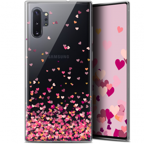 """Coque Gel Samsung Galaxy Note 10+ / Plus (6.8"""") Extra Fine Sweetie - Heart Flakes"""
