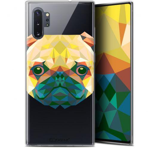 "Coque Gel Samsung Galaxy Note 10+ / Plus (6.8"") Extra Fine Polygon Animals - Chien"