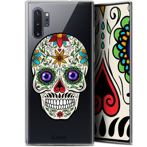 "Coque Gel Samsung Galaxy Note 10+ / Plus (6.8"") Extra Fine Skull - Maria's Flower"