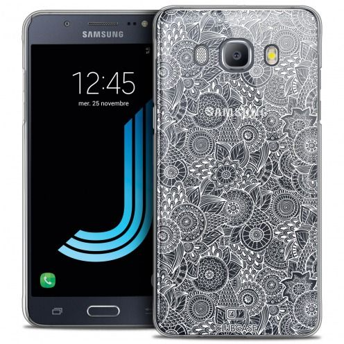 Coque Crystal Galaxy J5 2016 (J510) Extra Fine Texture Dentelle Florale - Blanche