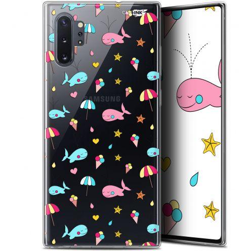 """Coque Gel Samsung Galaxy Note 10+ / Plus (6.8"""") Extra Fine Motif - Baleine à la Plage"""