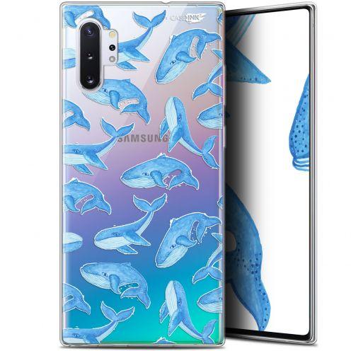 """Coque Gel Samsung Galaxy Note 10+ / Plus (6.8"""") Extra Fine Motif - Baleines"""