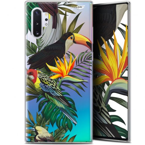 "Coque Gel Samsung Galaxy Note 10+ / Plus (6.8"") Extra Fine Motif - Toucan Tropical"