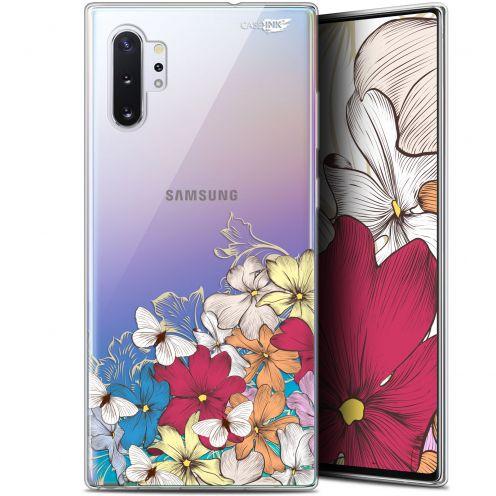 """Coque Gel Samsung Galaxy Note 10+ / Plus (6.8"""") Extra Fine Motif - Nuage Floral"""
