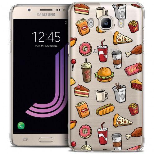 Coque Crystal Galaxy J7 2016 (J710) Extra Fine Foodie - Fast Food