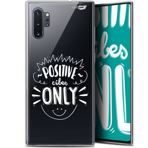 """Coque Gel Samsung Galaxy Note 10+ / Plus (6.8"""") Extra Fine Motif - Positive Vibes Only"""
