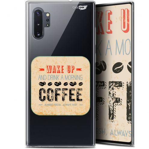 """Coque Gel Samsung Galaxy Note 10+ / Plus (6.8"""") Extra Fine Motif - Wake Up With Coffee"""