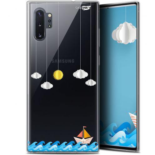 "Coque Gel Samsung Galaxy Note 10+ / Plus (6.8"") Extra Fine Motif - Petit Bateau en Mer"