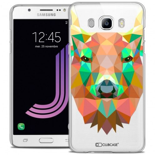 Coque Crystal Galaxy J7 2016 (J710) Extra Fine Polygon Animals - Cerf