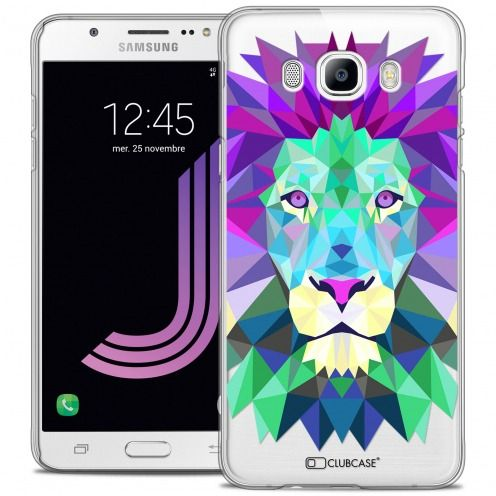 Coque Crystal Galaxy J7 2016 (J710) Extra Fine Polygon Animals - Lion