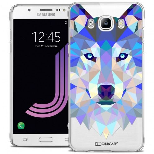 Coque Crystal Galaxy J7 2016 (J710) Extra Fine Polygon Animals - Loup
