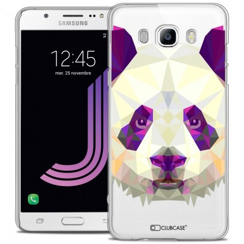 Coque Crystal Galaxy J7 2016 (J710) Extra Fine Polygon Animals - Panda