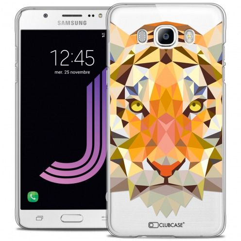 Coque Crystal Galaxy J7 2016 (J710) Extra Fine Polygon Animals - Tigre