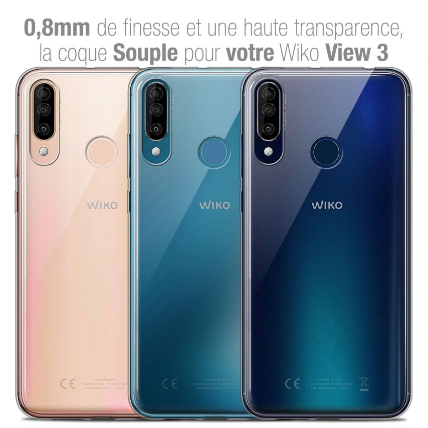 "Coque Wiko View 3 (6.26"") Extra Fine Souple Crystal Clear"