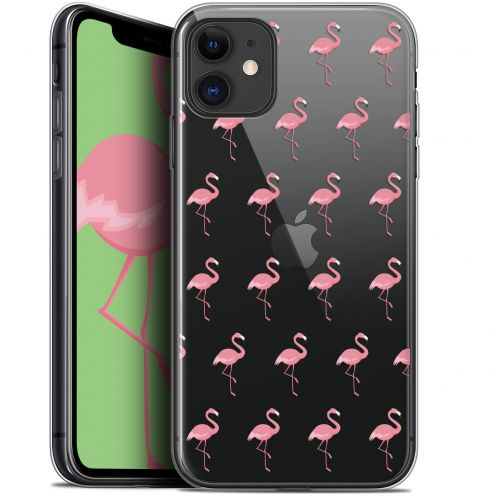 "Coque Gel Apple iPhone 11 (6.1"") Extra Fine Pattern - Les flamants Roses"