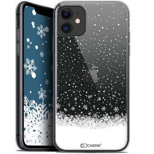 """Coque Gel Apple iPhone 11 (6.1"""") Extra Fine Noël 2017 - Flocons de Neige"""