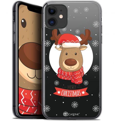 """Coque Gel Apple iPhone 11 (6.1"""") Extra Fine Noël 2017 - Cerf à Echarpe"""