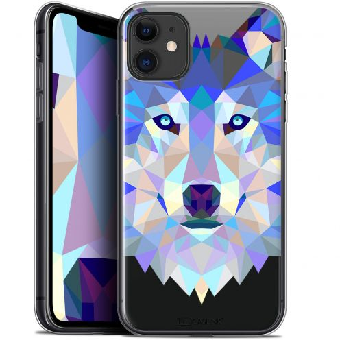"Coque Gel Apple iPhone 11 (6.1"") Extra Fine Polygon Animals - Loup"