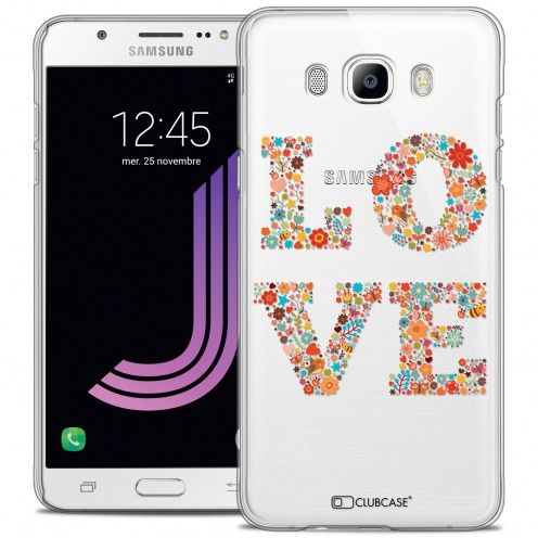 Coque Crystal Rigide Samsung Galaxy J7 2016 (J710) Extra Fine Summer - Love Flowers