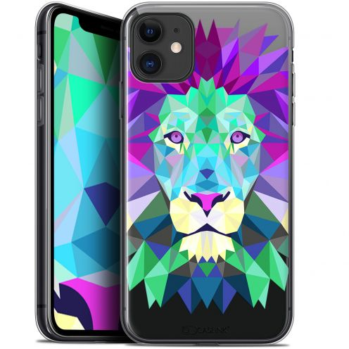 "Coque Gel Apple iPhone 11 (6.1"") Extra Fine Polygon Animals - Lion"