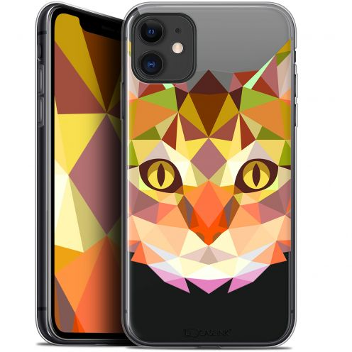 """Coque Gel Apple iPhone 11 (6.1"""") Extra Fine Polygon Animals - Chat"""
