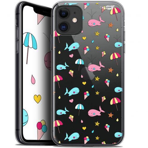 "Coque Gel Apple iPhone 11 (6.1"") Extra Fine Motif - Baleine à la Plage"