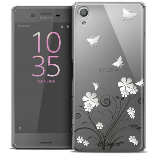 Coque Crystal Rigide Sony Xperia X Extra Fine Summer - Papillons