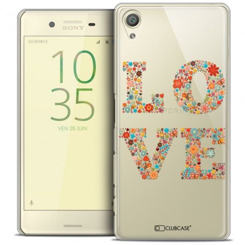 Coque Crystal Rigide Sony Xperia X Extra Fine Summer - Love Flowers