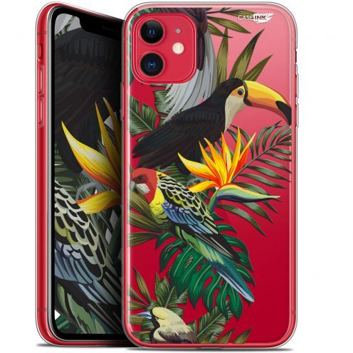 "Coque Gel Apple iPhone 11 (6.1"") Extra Fine Motif - Toucan Tropical"