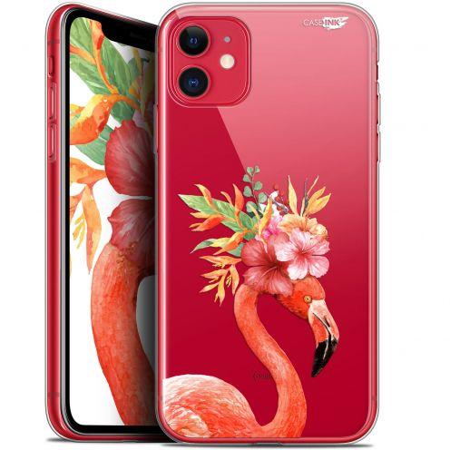 """Coque Gel Apple iPhone 11 (6.1"""") Extra Fine Motif - Flamant Rose Fleuri"""