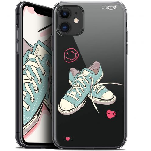 """Coque Gel Apple iPhone 11 (6.1"""") Extra Fine Motif - Mes Sneakers d'Amour"""