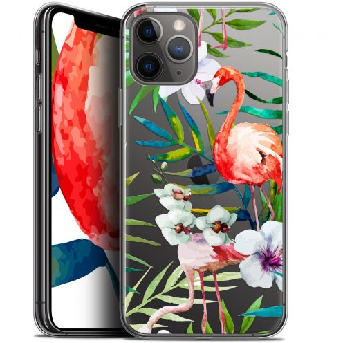 "Coque Gel Apple iPhone 11 Pro (5.8"") Extra Fine Watercolor - Tropical Flamingo"