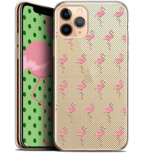 "Coque Gel Apple iPhone 11 Pro (5.8"") Extra Fine Pattern - Les flamants Roses Dots"
